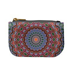 Abstract Painting Mandala Salmon Blue Green Mini Coin Purses by EDDArt