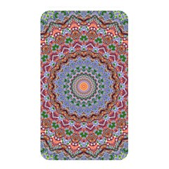 Abstract Painting Mandala Salmon Blue Green Memory Card Reader
