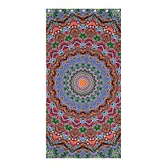 Abstract Painting Mandala Salmon Blue Green Shower Curtain 36  X 72  (stall)  by EDDArt