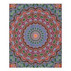 Abstract Painting Mandala Salmon Blue Green Shower Curtain 60  X 72  (medium)  by EDDArt