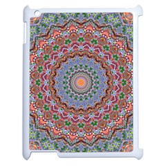 Abstract Painting Mandala Salmon Blue Green Apple Ipad 2 Case (white) by EDDArt