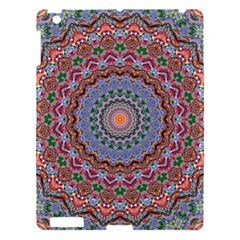 Abstract Painting Mandala Salmon Blue Green Apple Ipad 3/4 Hardshell Case by EDDArt