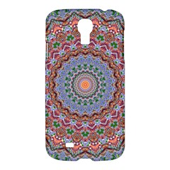 Abstract Painting Mandala Salmon Blue Green Samsung Galaxy S4 I9500/i9505 Hardshell Case by EDDArt