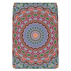 Abstract Painting Mandala Salmon Blue Green Flap Covers (l)  by EDDArt