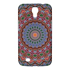 Abstract Painting Mandala Salmon Blue Green Samsung Galaxy Mega 6 3  I9200 Hardshell Case by EDDArt