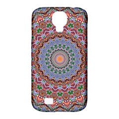 Abstract Painting Mandala Salmon Blue Green Samsung Galaxy S4 Classic Hardshell Case (pc+silicone)