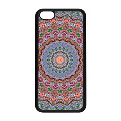 Abstract Painting Mandala Salmon Blue Green Apple Iphone 5c Seamless Case (black)