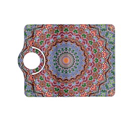 Abstract Painting Mandala Salmon Blue Green Kindle Fire Hd (2013) Flip 360 Case