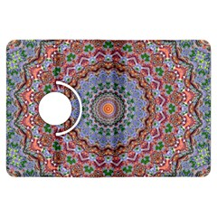 Abstract Painting Mandala Salmon Blue Green Kindle Fire Hdx Flip 360 Case by EDDArt