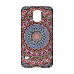 Abstract Painting Mandala Salmon Blue Green Samsung Galaxy S5 Hardshell Case