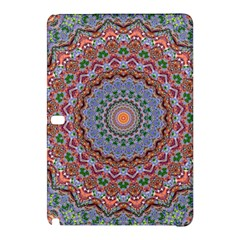 Abstract Painting Mandala Salmon Blue Green Samsung Galaxy Tab Pro 10 1 Hardshell Case by EDDArt
