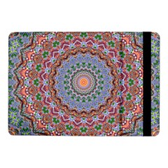 Abstract Painting Mandala Salmon Blue Green Samsung Galaxy Tab Pro 10 1  Flip Case by EDDArt
