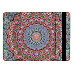 Abstract Painting Mandala Salmon Blue Green Samsung Galaxy Tab Pro 12 2  Flip Case