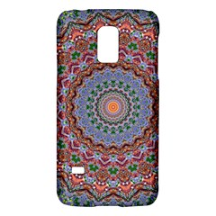 Abstract Painting Mandala Salmon Blue Green Galaxy S5 Mini