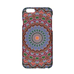 Abstract Painting Mandala Salmon Blue Green Apple Iphone 6/6s Hardshell Case by EDDArt
