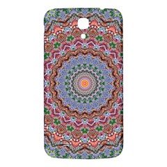 Abstract Painting Mandala Salmon Blue Green Samsung Galaxy Mega I9200 Hardshell Back Case