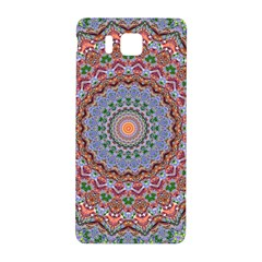 Abstract Painting Mandala Salmon Blue Green Samsung Galaxy Alpha Hardshell Back Case by EDDArt