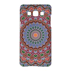 Abstract Painting Mandala Salmon Blue Green Samsung Galaxy A5 Hardshell Case  by EDDArt
