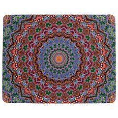 Abstract Painting Mandala Salmon Blue Green Jigsaw Puzzle Photo Stand (rectangular) by EDDArt