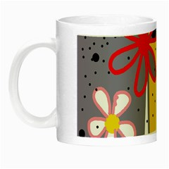 Flowers Night Luminous Mugs by Valentinaart