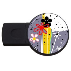 Flowers Usb Flash Drive Round (4 Gb)  by Valentinaart