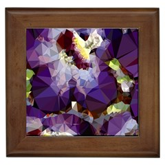 Purple Abstract Geometric Dream Framed Tiles by DanaeStudio