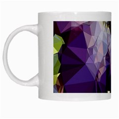 Purple Abstract Geometric Dream White Mugs by DanaeStudio