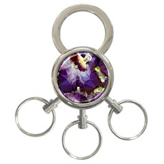 Purple Abstract Geometric Dream 3 Ring Key Chains by DanaeStudio