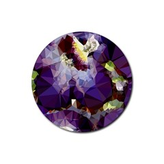 Purple Abstract Geometric Dream Rubber Coaster (round)  by DanaeStudio