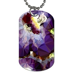 Purple Abstract Geometric Dream Dog Tag (one Side) by DanaeStudio