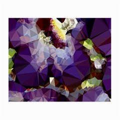 Purple Abstract Geometric Dream Small Glasses Cloth by DanaeStudio