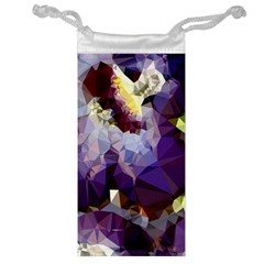 Purple Abstract Geometric Dream Jewelry Bags by DanaeStudio