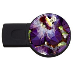 Purple Abstract Geometric Dream Usb Flash Drive Round (4 Gb)  by DanaeStudio