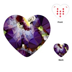 Purple Abstract Geometric Dream Playing Cards (heart)  by DanaeStudio
