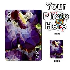 Purple Abstract Geometric Dream Playing Cards 54 Designs  by DanaeStudio