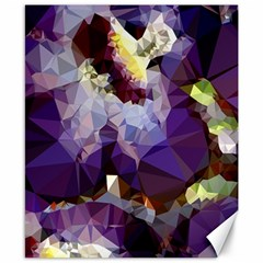 Purple Abstract Geometric Dream Canvas 8  X 10  by DanaeStudio