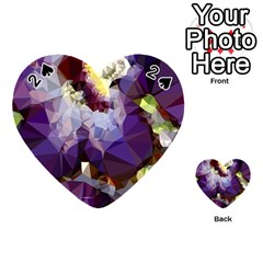 Purple Abstract Geometric Dream Playing Cards 54 (heart)  by DanaeStudio