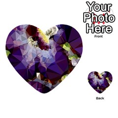 Purple Abstract Geometric Dream Multi Purpose Cards (heart)  by DanaeStudio
