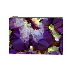 Purple Abstract Geometric Dream Cosmetic Bag (large)  by DanaeStudio