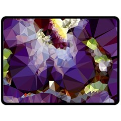 Purple Abstract Geometric Dream Fleece Blanket (large)  by DanaeStudio