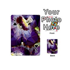 Purple Abstract Geometric Dream Playing Cards 54 (mini)  by DanaeStudio