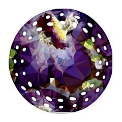 Purple Abstract Geometric Dream Ornament (round Filigree)  by DanaeStudio
