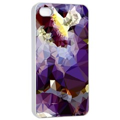 Purple Abstract Geometric Dream Apple Iphone 4/4s Seamless Case (white) by DanaeStudio