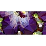 Purple Abstract Geometric Dream BEST SIS 3D Greeting Card (8x4) Front
