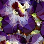 Purple Abstract Geometric Dream BEST SIS 3D Greeting Card (8x4) Inside