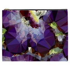 Purple Abstract Geometric Dream Cosmetic Bag (xxxl)  by DanaeStudio