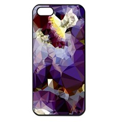 Purple Abstract Geometric Dream Apple Iphone 5 Seamless Case (black) by DanaeStudio