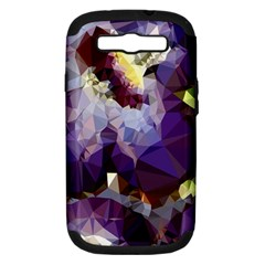 Purple Abstract Geometric Dream Samsung Galaxy S Iii Hardshell Case (pc+silicone) by DanaeStudio