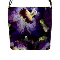 Purple Abstract Geometric Dream Flap Messenger Bag (l)  by DanaeStudio
