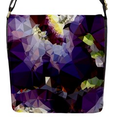 Purple Abstract Geometric Dream Flap Messenger Bag (s) by DanaeStudio